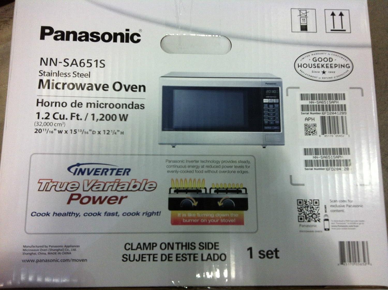 Amazon.com: iclover Panasonic Horno de microondas nn-sa651s ...