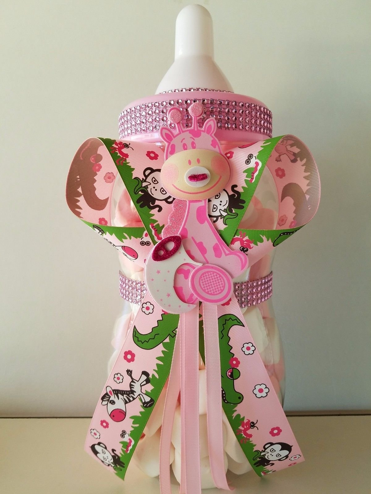 Giraffe Centerpiece Bottle Big Large 14'' Baby Shower Piggy Bank Girl Decoration by Product789