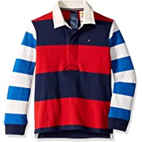 Tommy Hilfiger Adaptive Boys' Big Rugby Shirt with Magnetic Buttons