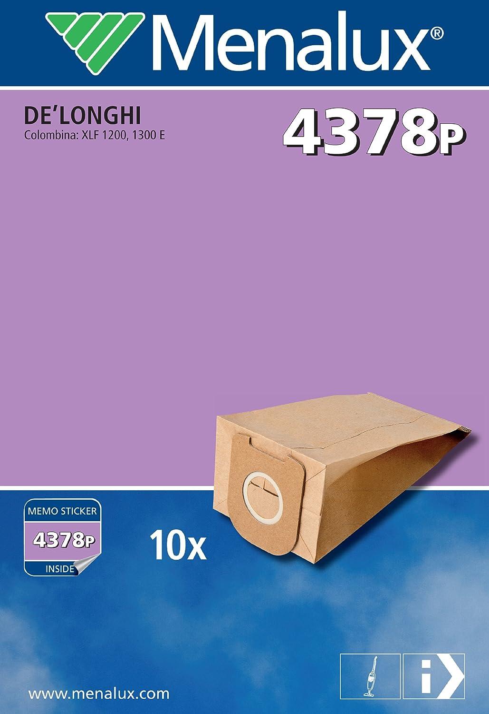 Menalux 900166872 4378 P Sacchetti per Scope De Longhi Colombina Xlf1200, Xlf1300 4378P