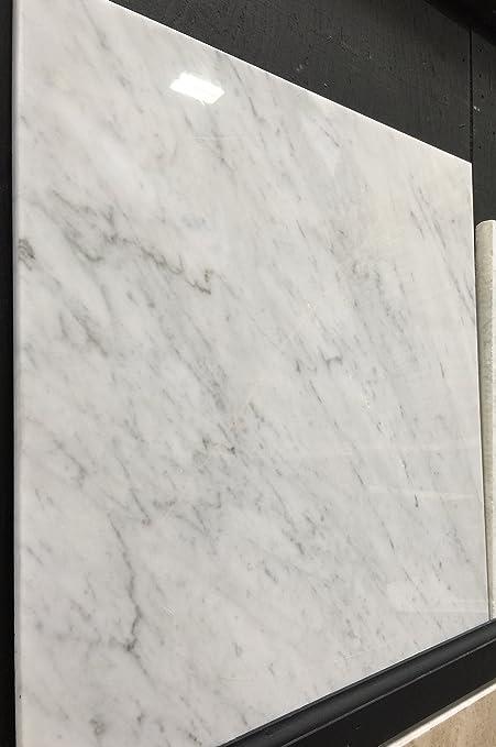 Carrara Marble Italian White Bianco Carrera 18x18 Marble Tile