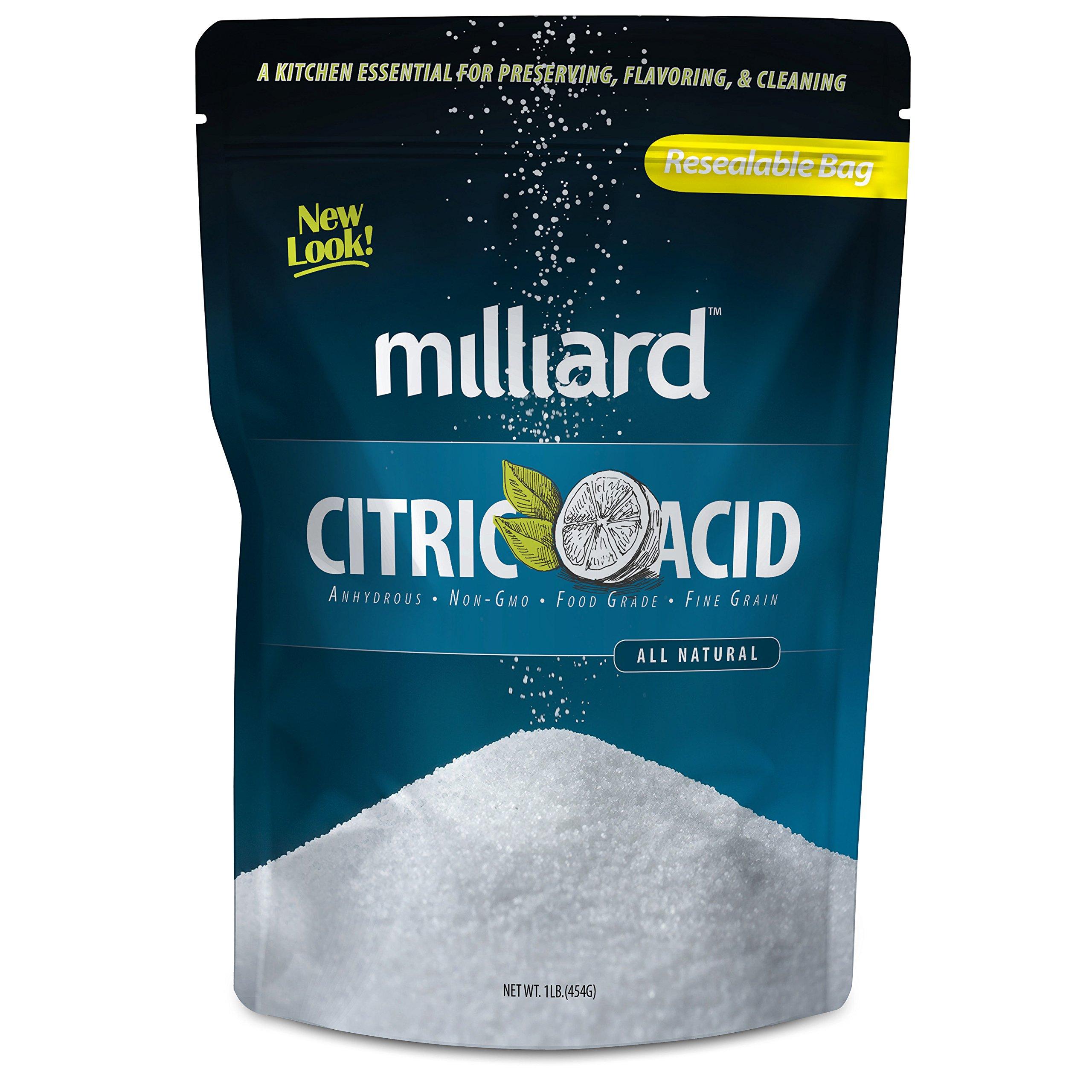 Milliard Citric Acid - 1 Pound - 100% Pure Food Grade NON-GMO (1 Pound)