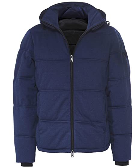 Armani Mens Quilted Bomber Jacket Navy Amazon Clothing