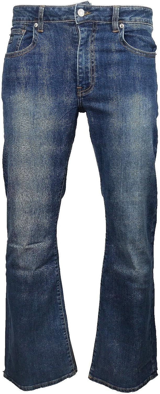 stile anni 70 LCJ Denim LC16 Jeans da uomo elasticizzati svasati