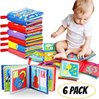 Amazon Price History for:Tencoz Cloth Book Baby, Baby Books Baby's First Soft Cloth Book Set Infant Children Educational Toys Baby Gifts for Boy Girl Colorful-Pack of 6 (Friction with a rustling Sound)
