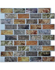 Art3d Peel and Stick Backsplashes Tile Vinyl Kitchen Wall Stikers, Pack of 6