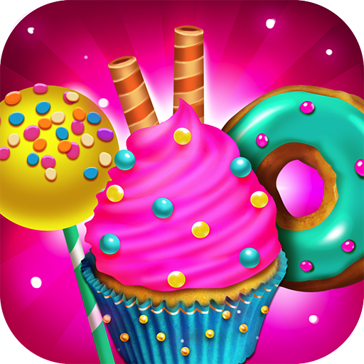 Creative Imaginations Cream - Candy Dessert Bakery Shop - Make, Bake & Cook Donuts, Cake Pops, Cupcakes, Cookies, Popsicles, Ice Cream, Cakes! Kids Candy Kitchen Cooking Food Maker Restaurant Game