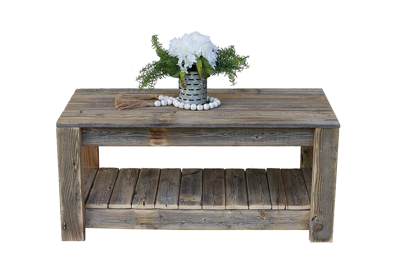 Amazon Com Natural Coffee Table With Shelf Handmade