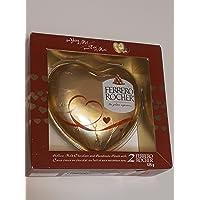 Ferrero Rocher Hollow Milk Chocolate and Hazelnut Heart with 2 Ferrero Rocher 125g