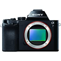 Sony Alpha 7 Fotocamera Digitale Mirrorless Full-Frame con Obiettivo Intercambiabile, Sensore CMOS Exmor Full-Frame da 24.3 MP, Nero
