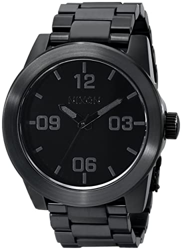 Nixon Corporal SS A346. 100m Water Resistant XL Men s Watch 48mm Watch Face. 24mm Stainless Steel Band