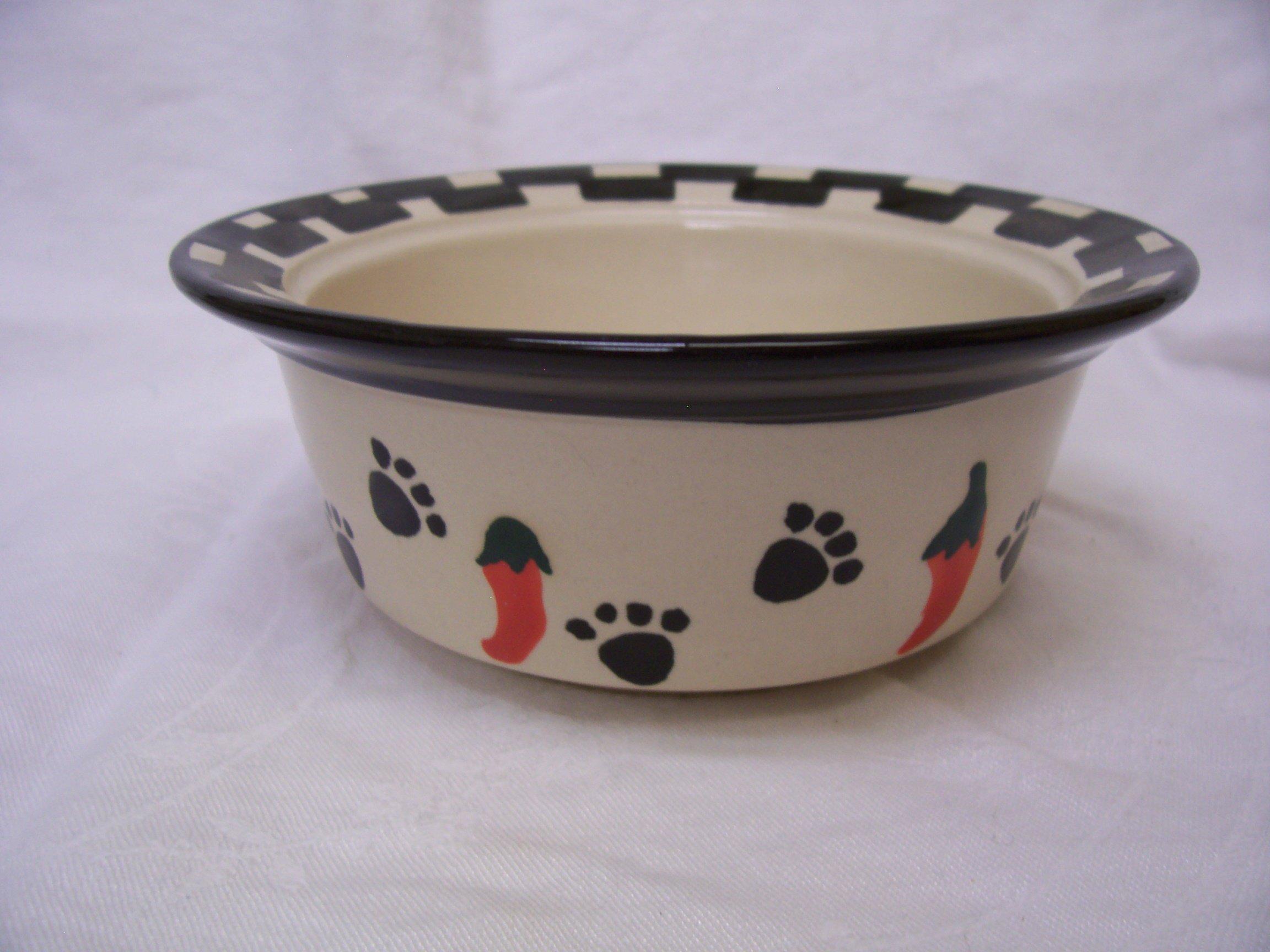 Petrageous Designs Lucy's Little Paws, 5'' Pet Bowl, Blue & Green Assorted