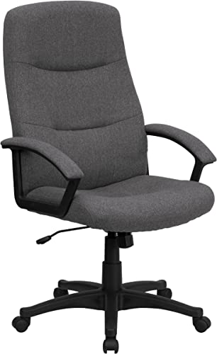 Flash Furniture High Back Gray Fabric Executive Swivel Office Chair