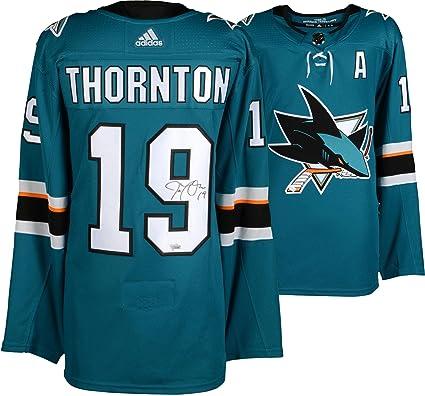 Joe Thornton San Jose Sharks Autographed Teal Adidas Authentic Jersey -  Fanatics Authentic Certified 6e79da80d7e