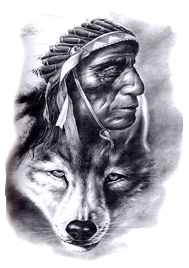 Amazoncom Spiritual Animal Wolf American Native Large 825 Half