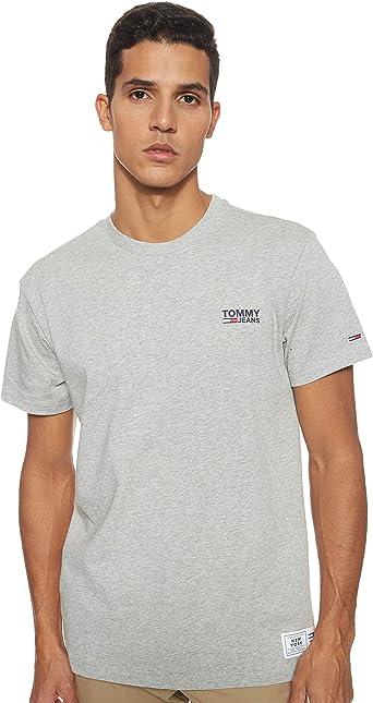 Tommy Jeans TJM Chest Corp Logo Tee T-Shirt de Sport Homme