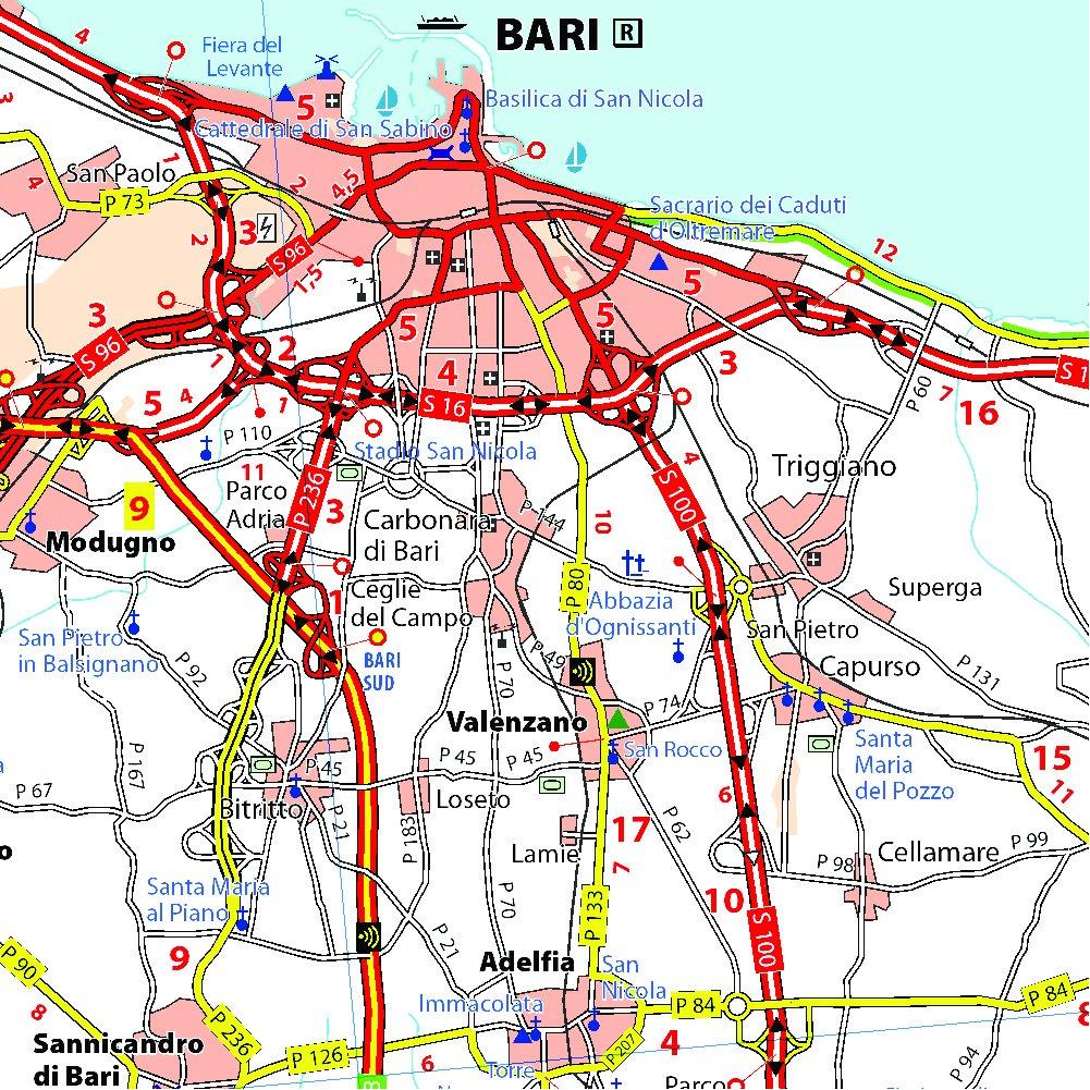 Cartina Stradale Puglia Michelin.Michelin Map Italy Puglia 363 Maps Local Michelin Italian Edition Michelin 9782067126725 Amazon Com Books