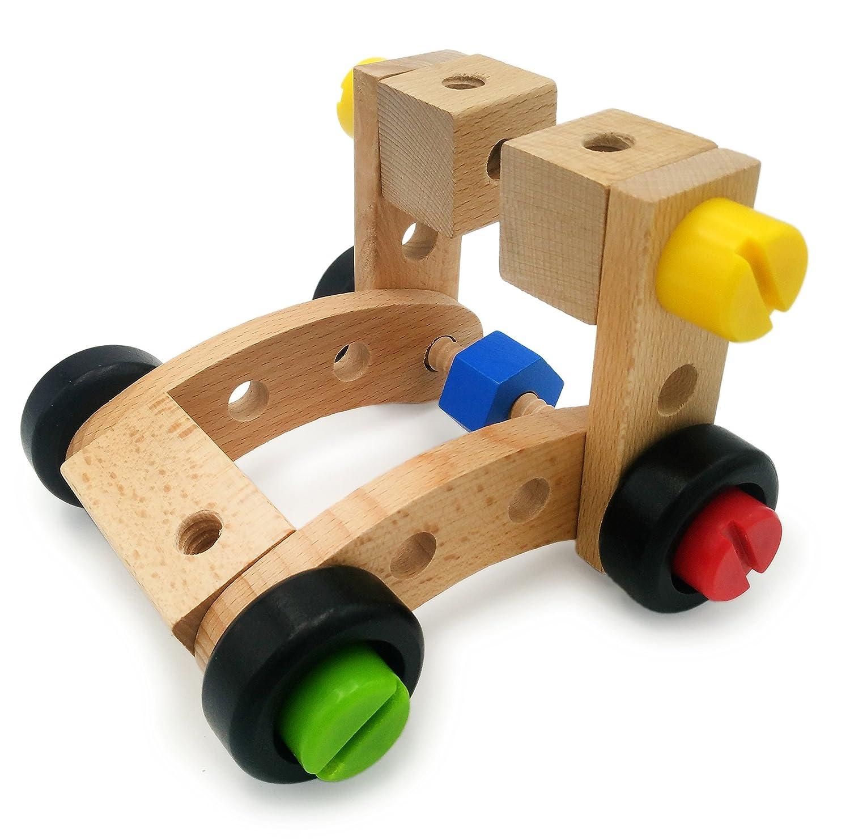 Amazon VIAHART 30 Pcs Wooden Puzzle Building Blocks Assembly