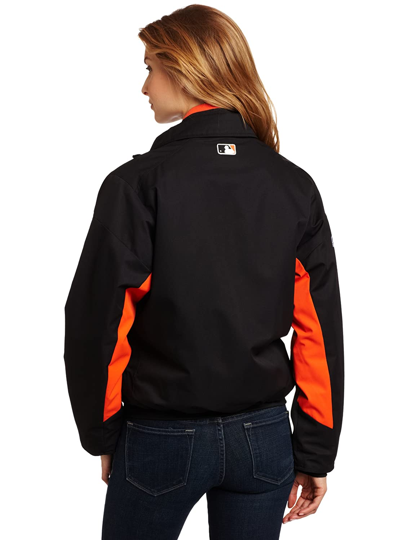 5a959d2e711 Amazon.com   MLB Women s San Francisco Giants Triple Peak Premier Jacket  (Black Orange