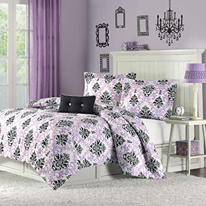 amazon com mi zone katelyn comforter set full queen size purple