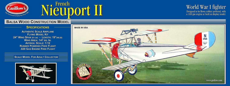 Nieuport II Laser Cut Model
