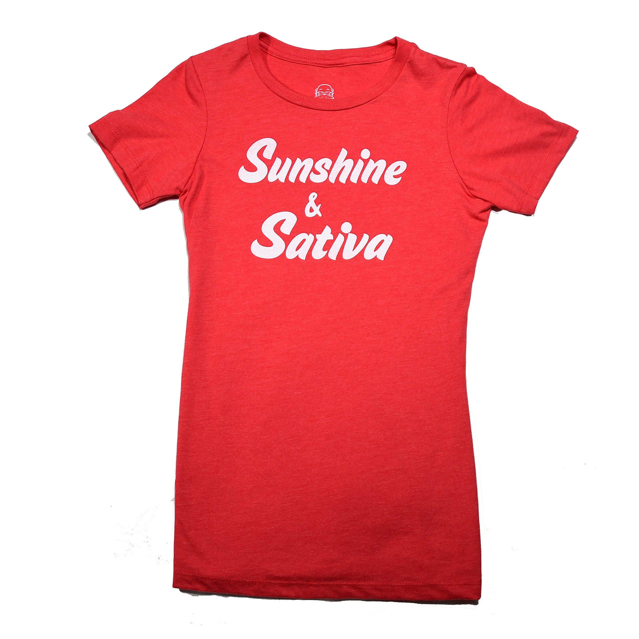 Honor Women's Sunshine & Sativa T Shirt (Red)