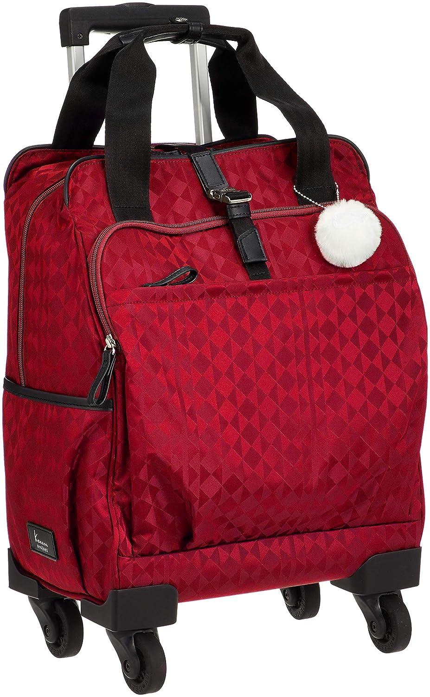 [カナナプロジェクト] スーツケース カナナモノグラムトロリー サイレントキャスター 機内持込可 15L 37cm 2.0kg 59139 B07GDRMT96  レッド