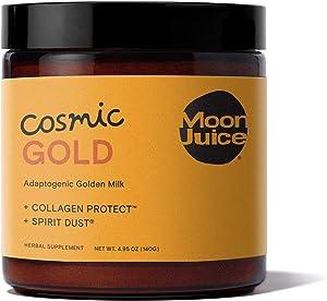 Moon Juice - Cosmic Gold - Mushroom Based Adaptogenic Golden Turmeric Latte Mix for Mood - Turmeric, Ashwagandha, Reishi, Silver Ear Mushroom, Tocos, Ginger & Cinnamon - Vegan, Gluten-Free (4.95oz)