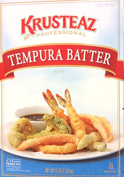 Amazon Com 5 Pound Krusteaz Tempura Batter Mix Just Add Water No Msg Added Zero Grams Trans Fat Restaurant Quality Pancake Mixes Grocery Gourmet Food