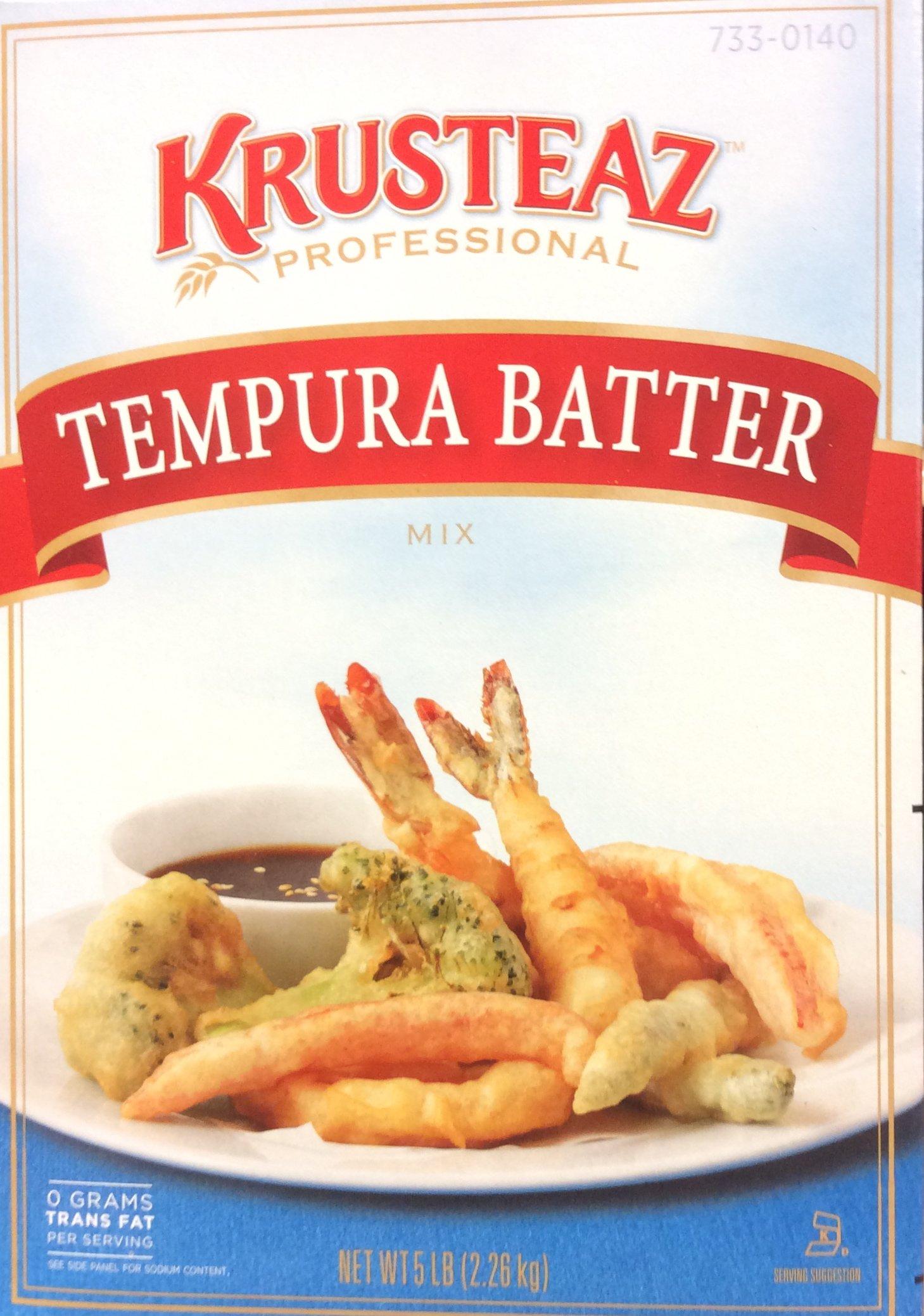5 Pound Krusteaz Tempura Batter Mix Just Add Water No MSG Added Zero Grams Trans Fat Restaurant Quality