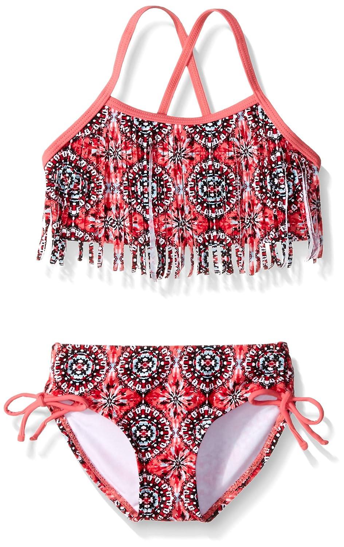Kanu Surf Girls' Hannah Fringe Bikini Swimsuit 357B