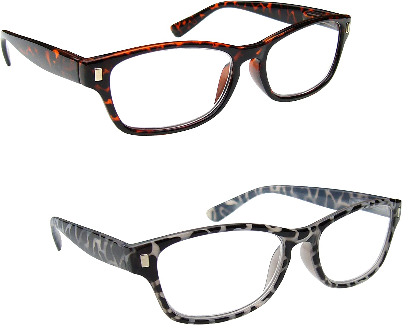 1.50 The Reading Glasses Company Black Milky Tortoiseshell Readers Mens Womens Spring Hinges R10-1