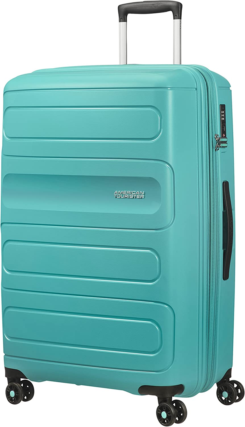 American Tourister Sunside Spinner 77 Expandible, 4.5 kg, 106/118 l, Turquesa (Aero Turquoise)