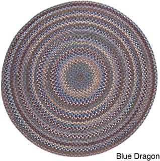 product image for Rhody Rug Augusta Round Braided Wool Rug (8' x 8') Blue
