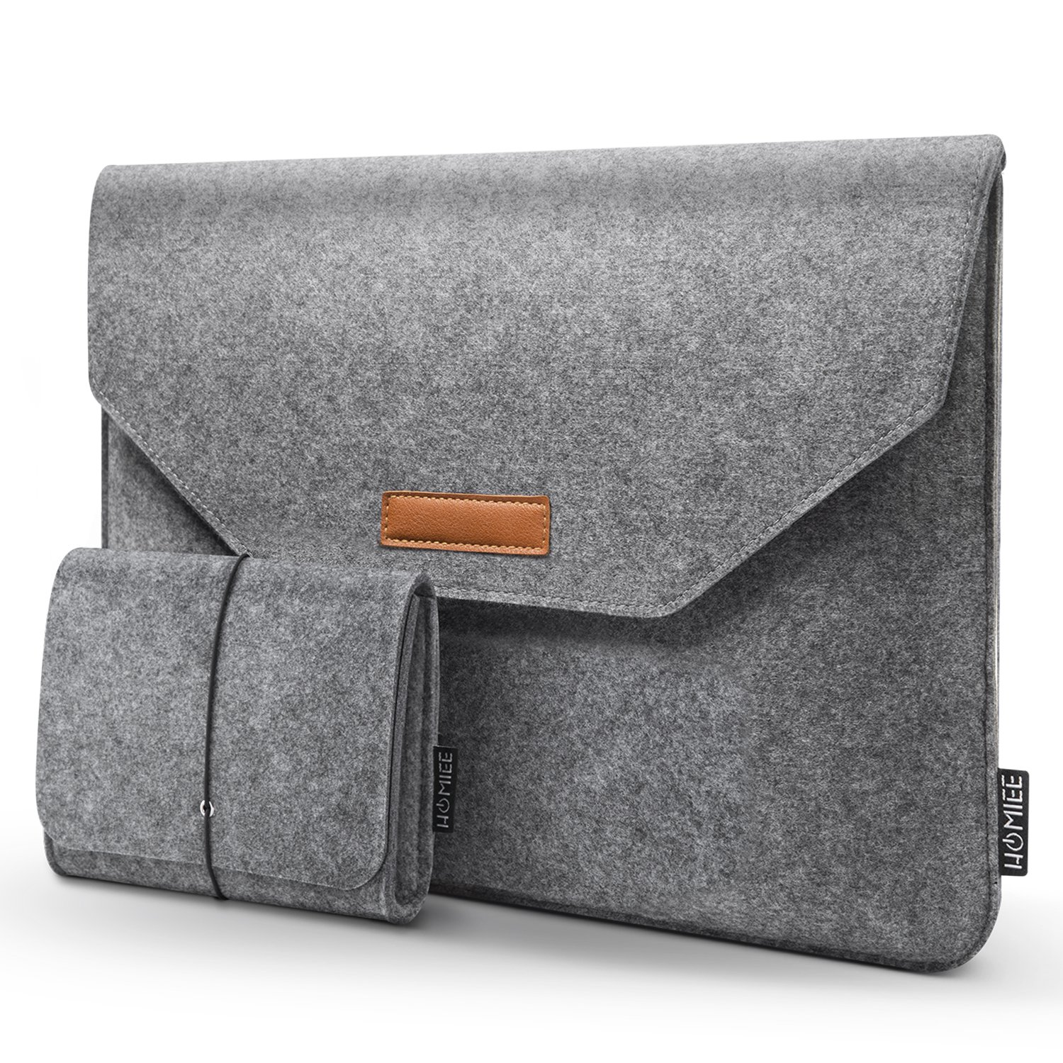 HOMIEE MacBook Accessory Sleeve 13-13.3 Inch Felt Sleeve Case for 2018 New MacBook Pro, MacBook Pro Retina, MacBook Air, 12.9 iPad Pro, Dell XPS, Lenovo/HP/Chromebook Ultra Slim Notebook, Light Gray 12.9 iPad Pro LS1002