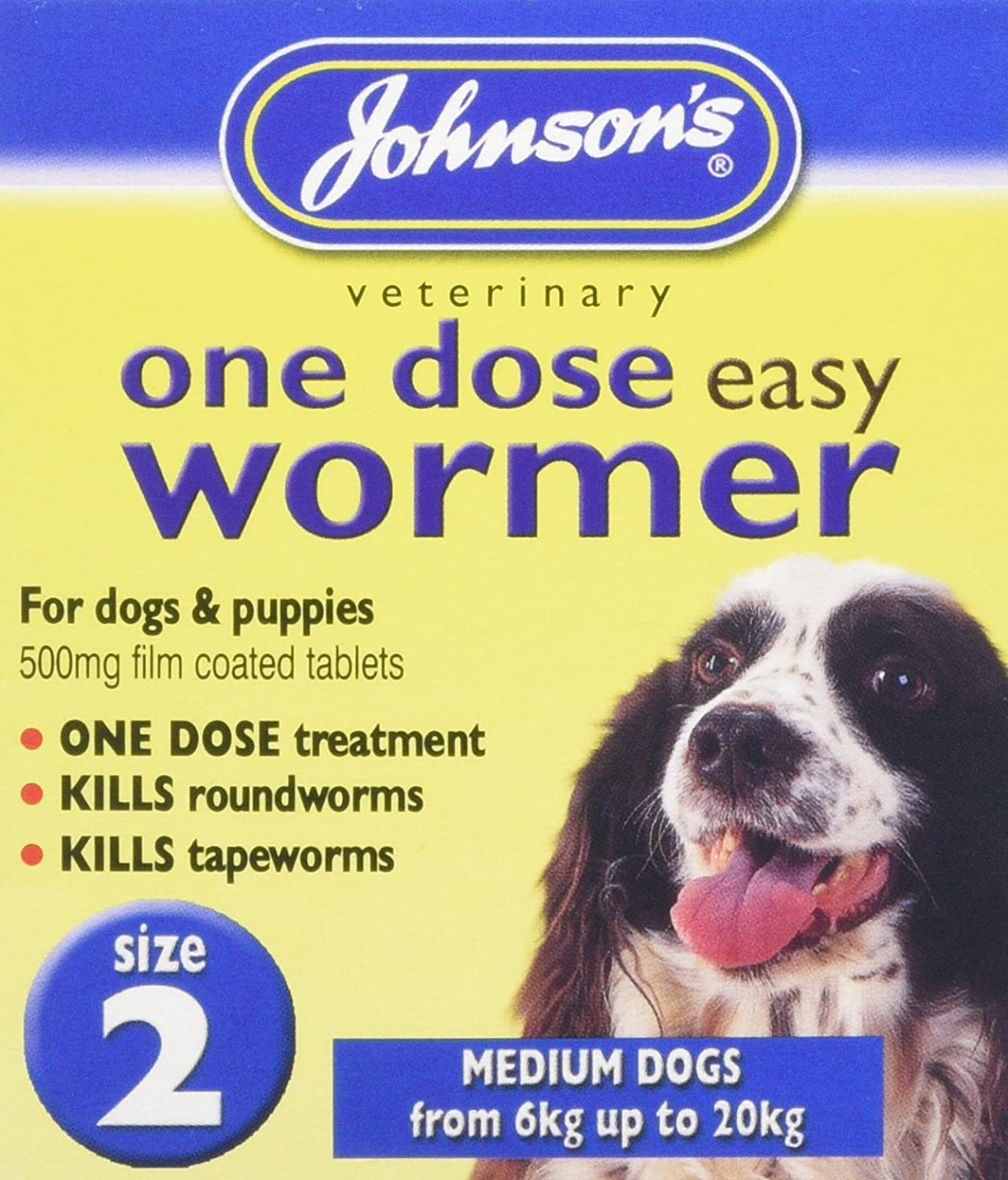 Johnson's One Dose Easy Wormer for Small Dogs Size 1 B051*NI