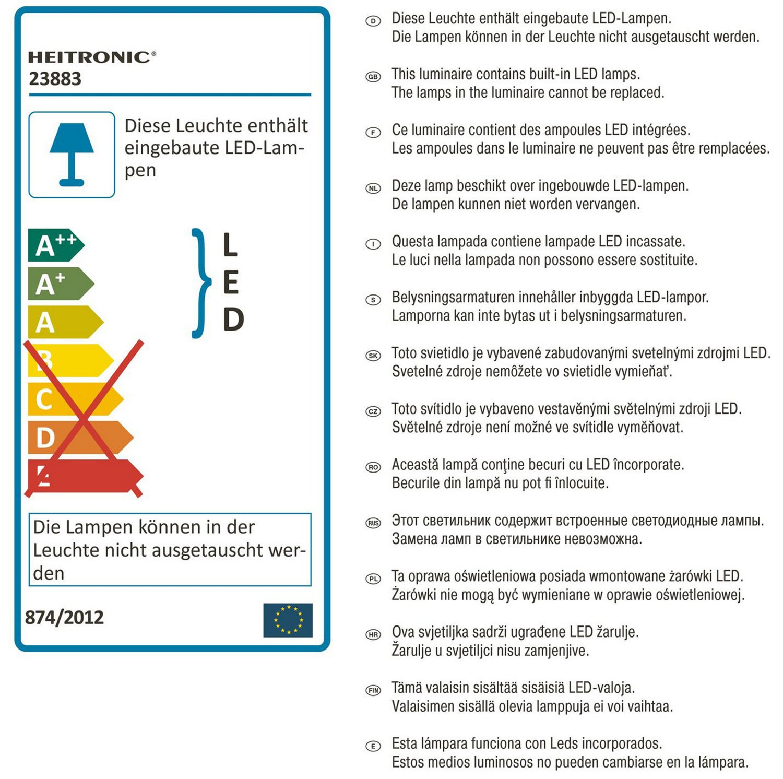 Heitronic Almeria - Lámpara de pared con interruptor (cuello flexible, intensidad regulable, pantalla de vidrio): Amazon.es: Iluminación