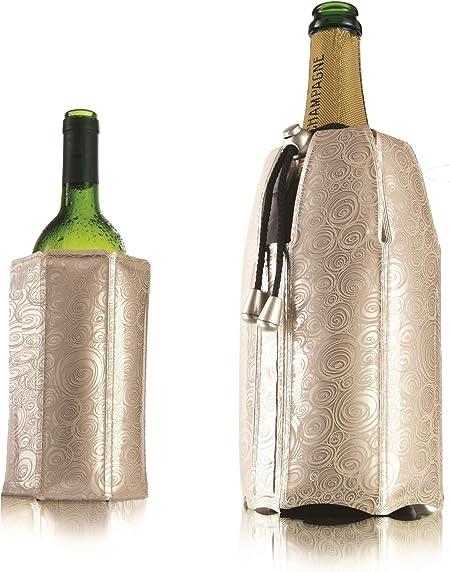 Compra Vacu Vin 3887560 Enfriador Rápido para Botellas De Vino Y Cava, Plateado en Amazon.es