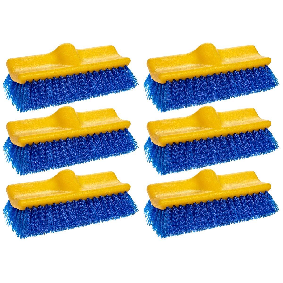 Rubbermaid Commercial Floor Scrub Brush, 10'', Blue, FG633700BLUE (6 Brushes)