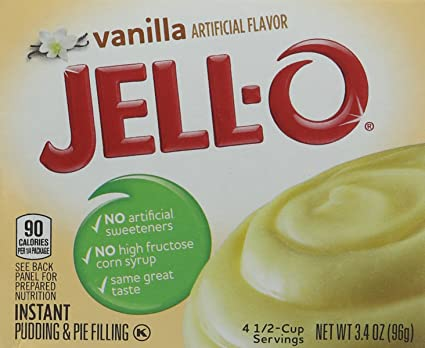 Jell-O Vanilla Instant Pudding and Pie Filling 96 g (Pack of 6)