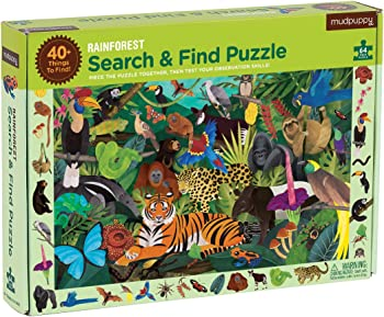 MudpuppyNon-Toxic Soy-Based Inks Serch And Find Puzzles