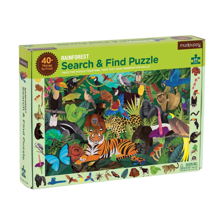 Mudpuppy Rainforest Search & Find Puzzle (64 Piece)