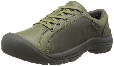 KEEN Women's Briggs Leather Casual Shoe,Burnt Olive,5 ...