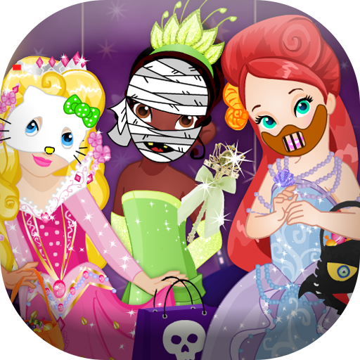 Dress up princess on halloween -