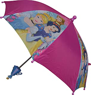 Disney Girls Princess Umbrella With 3D Handle Pink