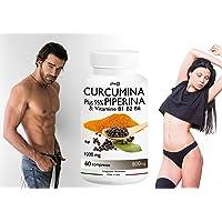 CURCUMINA Plus 95% ad alto DOSAGGIO 500mg per compressa potenziata con PIPERINA (60 CPR) per la perdita di peso - 20 VOLTE PIU' EFFICACE! Prodotto ITALIANO
