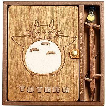 Amazon.com: Totoro - Cuaderno de tapa de madera: Office Products