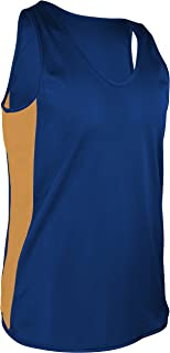 product image for TR-980-CB Men's Performance Athletic Light Single Ply Track Singlet with Side Panels (XXX-Large, Royal/Gold)
