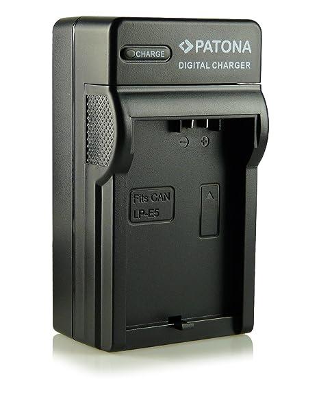 Patona - Cargador tipo LP-E5 con tres clavijas para cámaras de fotos digitales Canon EOS 1000D/450D/500D, etc.