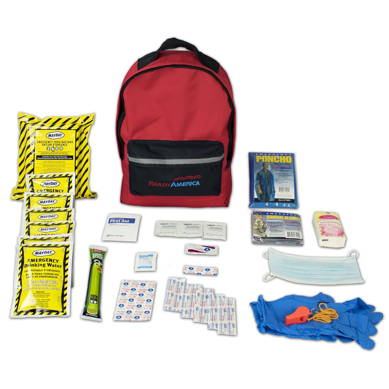 Ready America 70180 Emergency Kit 1 Person Backpack by Ready America